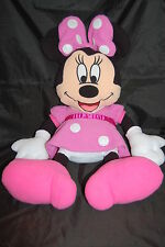 "Disney Minnie Mouse Pink Polkadot Dress Mickey Clubhouse Plush Pillow 30"" Toy"