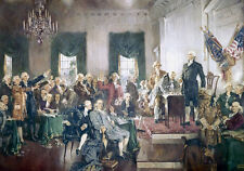 Signing of the US Constitution Painting Washington High Resolution Canvas Print