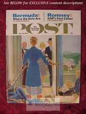 Saturday Evening Post May 26 1962 GEORGE HUGHES ROMNEY GAMBLERS ANONYMOUS
