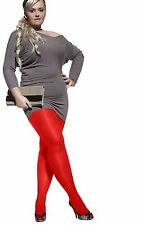 Plus size opaque plain pantyhose tights