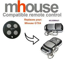 MHouse GTX4 compatible remote control transmitter, 433,92 MHz 4-channel