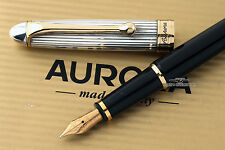 Aurora 88 Argento Massiccio .925 Silver/Black Resin Fountain Pen