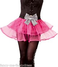 Ladies Sexy Pink Pirate Skull Tutu Halloween Fancy Dress Costume Outfit Skirt