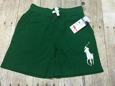 RALPH LAUREN POLO SHORTS GREEN BIG PONY BOYS SIZE 5 NEW WITH TAGS