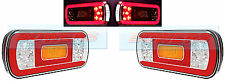 PAIR OF 12V/24V GLOW-TRAC LED REAR COMBINATION TAIL LAMPS LIGHTS TRUCK TRAILER