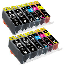 12PK PGI-220 CLI-221 Ink Cartridge for Canon PIXMA PMFP1 PMFP3 PIXUS MP610 MX860