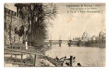 C004408  ESPOSIZIONE  DI  TORINO 1911   IL PO E IL PONTE  MONUMENTALE  VG 1913