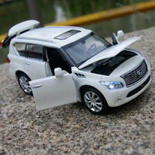 Infiniti QX56 1:32 SUV Model Car Alloy Diecast Sound&Light White Collection&Gift