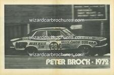 1972 PETER BROCK 28C LJ HOLDEN TORANA GTR XU1 BATHURST A3 POSTER AD BROCHURE
