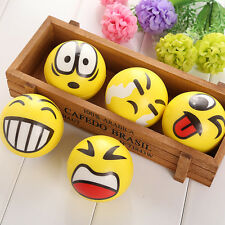 Anti Stress Smiley Face Reliever Ball Autism Mood Squeeze Relief ADHD Toy Gift