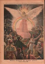 Affiche Pax Paix Peace Marianne France Russia China Persia 1894 ILLUSTRATION