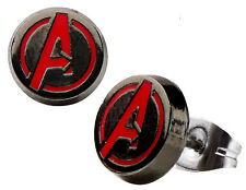 New on Card Marvel Licensed Avengers Logo Stud Earrings - 8mm - Steel Post