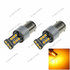 2X Yellow 1156  Ba15s 15 SMD 2835 LED 12-24V Canbus Error Free Rear Light D086