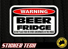 WARNING FUNNY BEER CAN BAR MINI FRIDGE STICKER DECAL CAUTION SIGN SUIT XXXX VB