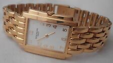 Patek Philippe ladies solid 18K gold Gondolo watch/band 89g in pouch, works well