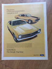 1971 Ford Maverick Ad  The Simple Machine 2 Door & Sporty Grabber