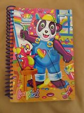 "New Vintage Lisa Frank 90 Sheet Ruled Paper Small Notebook ""Painting Panda Bear"""