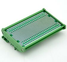 """DIN Rail Mounting Carrier Housing with Prototype PCB, 5.41"""" x 2.83"""""""