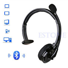 Over The Head Boom Mono Bluetooth Headset Handsfree with Mic for Smart Phone