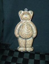 1994 Silver Crane Designs BEAR Tin For Department 56 Container 6.25""