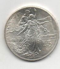 Italy 1911 L.5 1861-1911 commemoration medallion coin fantasy