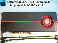 Radeon HD 5870 1GB Apple MAC PRO Upgrade 1,1-5,1 + Power Cables, 3D Upgrade