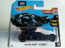 New Hot Wheels 2016 – THE DARK KNIGHT Batmobile – HW BATMAN Short Card (228/250)