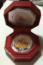 Singapore 2012 Lunar 3rd Series Dragon Colourised 2 Oz Piefort Silver Proof Coin