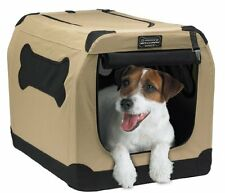 "Port A Crate Pop Up Large 24"" Dog Bed Kennel Portable Travel Pet Cat House Home"