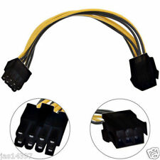 6 to 8 Pin PCI Express Power Converter Cable Cord Connector For CPU Video Card