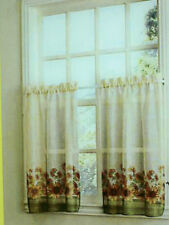 "New One Sunflower printed Tier pair  Kitchen Curtains  56""x 24"""