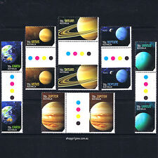 2015 - Australia - Our Solar System - gutter pair set of 12 (6 pairs) - MNH