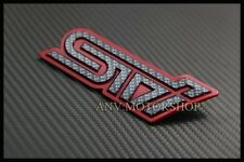 Carbon Red STI Rear Trunk Emblem Badge For Subaru Impreza WRX Legacy WRC GC8 GDB