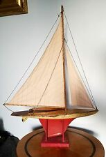 "Antique Vintage Sail Boat Sailing Yacht Maritime Toy Boat 32"" x 23"""