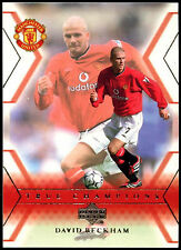 David BECKHAM Manchester United #106 Upper Deck 2001 CARD CALCIO commercio (c361)