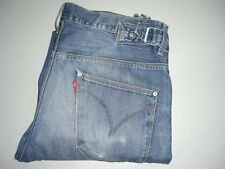Mens LEVI'S Engineered Twisted Blue Denim Jeans W32 L32 Side Buckles (32 REGULAR