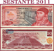 MEXICO MESSICO  -   20 PESOS  8.7. 1977   -   Serie DN -   P 64d   -   FDS / UNC