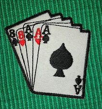 Full house Aces Eights Casino Poker Card Clothing Embroidered iron/ Sew-on Patch