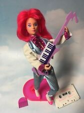 Jem and the Holograms KIMBER doll, clothes, shoes, keytar, tapevintage Hasbro