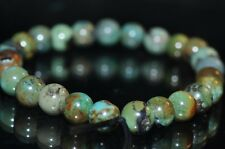 25 Pieces 5mm Gorgeous~Natural GREEN HUBEI TURQUOISE Small Round Beads - G1079