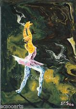 Original Abstract Acrylic Painting of Ballet Dancer 201412-005 2000-Now Artist