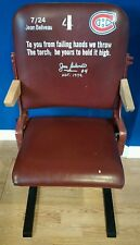 ORIGINAL LOGE Montreal Forum Hockey Stadium Seat Signed Jean Beliveau -  COA