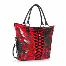 IRON Fist LARGE ROSSA American Nightmare Tote Handbag (Goth, Teschio)