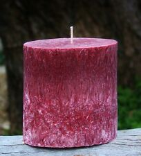 90hr CHRISTMAS TREE Triple Scented PINE Natural OVAL PILLAR CANDLE Fragrances