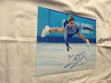 GRACIE GOLD US AMERICAN FIGURE SKATER SILVER MEDALIST SIGNED AUTOGRAPHED 8X10 9