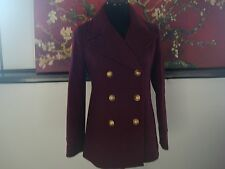 NWT J. Crew  majesty peacoat in stadium cloth item F4923  HTHR Fire Red 2
