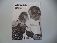 advertising Pubblicità 1972 ACQUA ULIVETO
