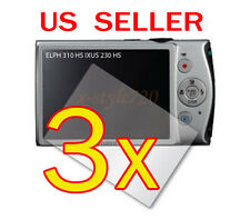 3x Canon ELPH 310 HS / IXUS 230 HS Digital Camera LCD Screen Protector Guard