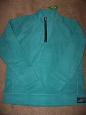 NWT Life is good Ladies Microfleece Classic Patch Pullover zip  Sweatshirt Large