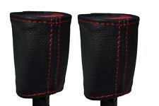 Cuciture ROSSE Adatto A Toyota Yaris 2005-2013 2x ANTERIORE Cintura di sicurezza in pelle copre